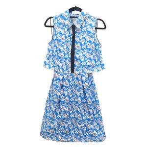 Tanya Taylor Blue Floral Dress
